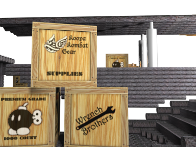 3 dimensional wooden crates