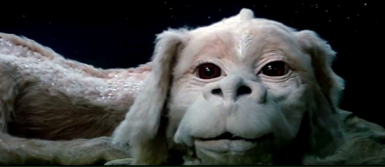 Falkor Luckdragon character from the movie The Never Ending Story